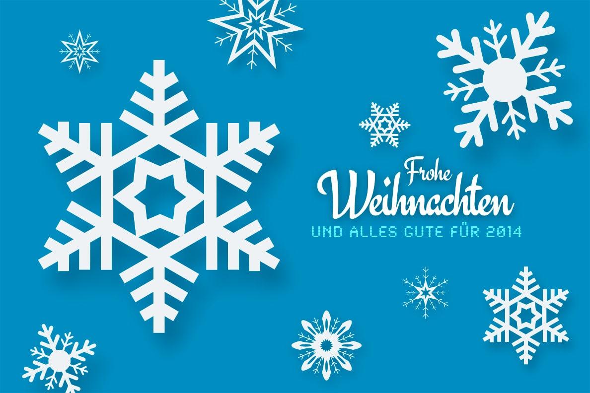 Frohe Weihnachten und alles Gute für 2014