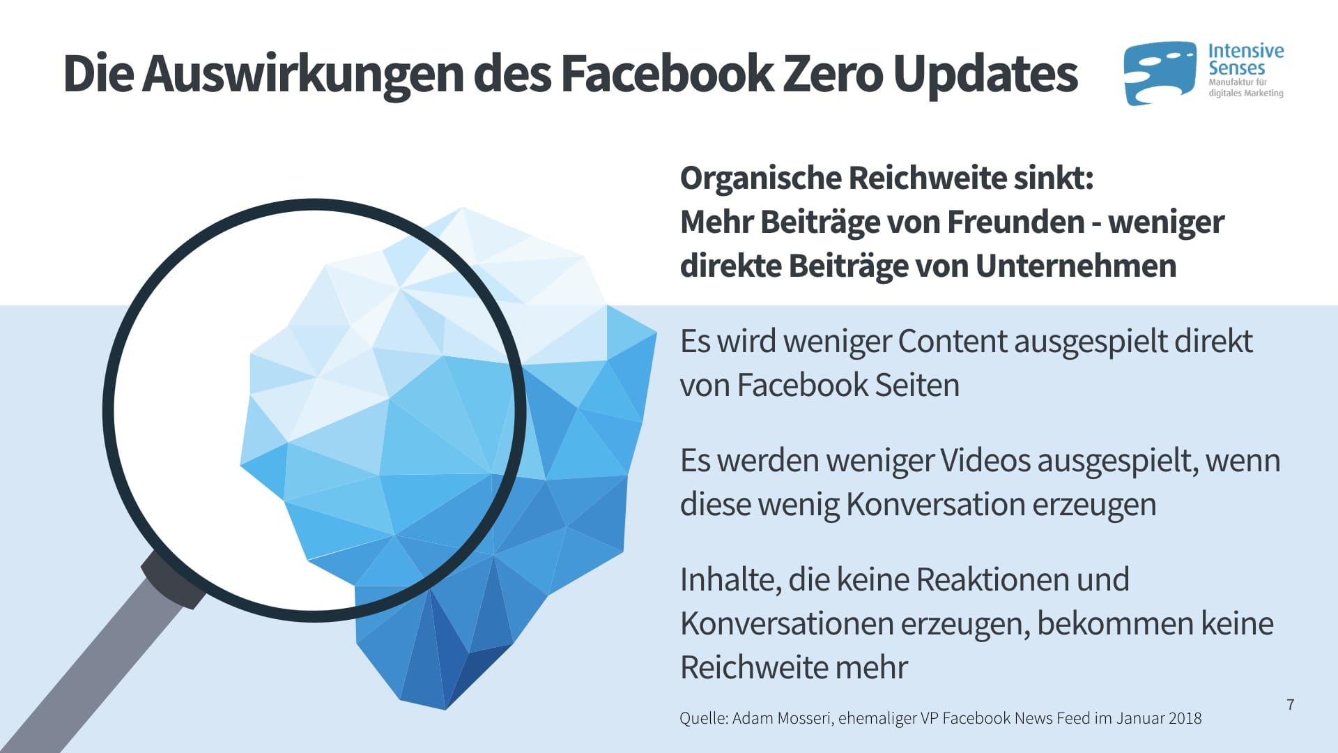 Auswirkungen des Facebook Zero Updates