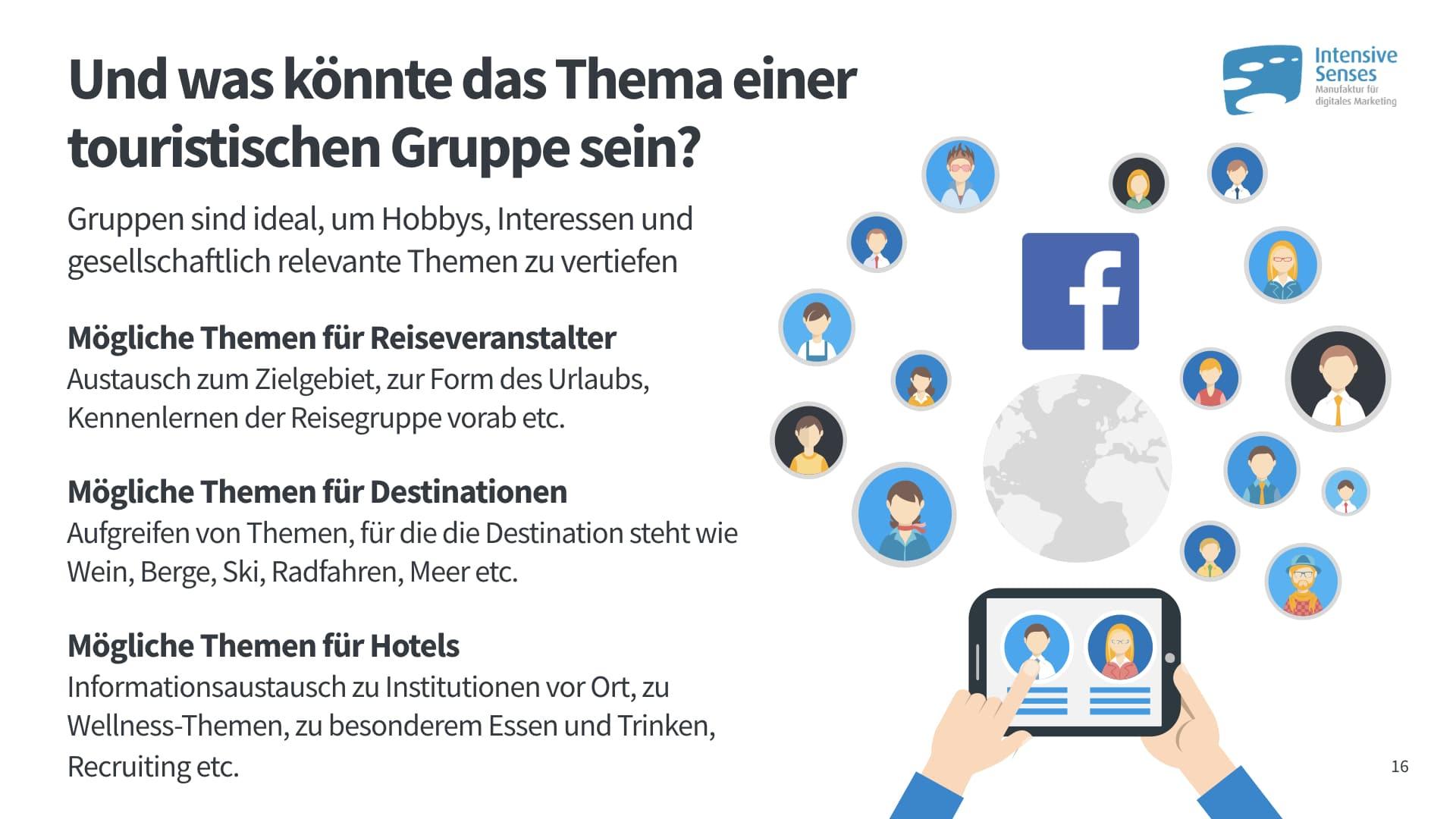Themen für Facebook Gruppen im Tourismus